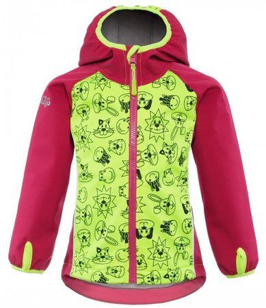 good2go dívčí softshellová bunda 80 růžová/žlutá
