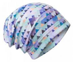 Unuo Chlapecká čepice fleece Mini trojúhelníčky - modrá