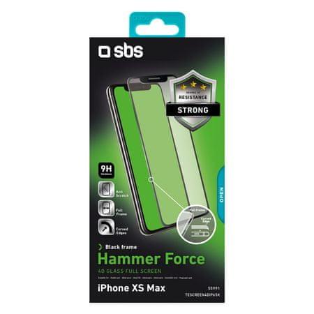 SBS zaščitno steklo Full glass za iPhone XS