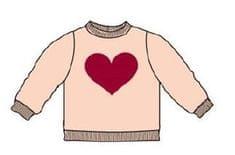 Carodel dekliški pulover z motivom srca