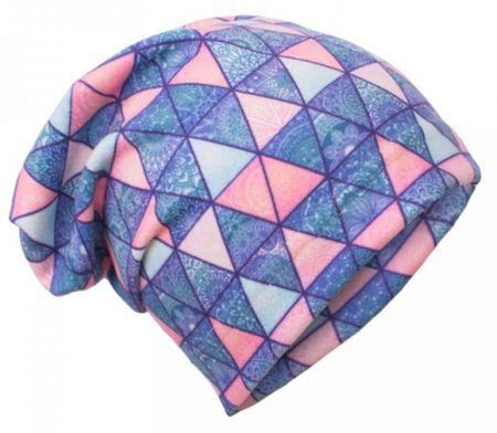 Unuo Dívčí čepice fleece Triangl mandaly 51 -53 fialová