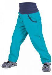 Unuo Chlapecké softshellové kalhoty bez zateplení Aqua