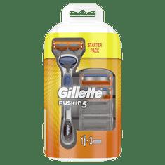 Gillette Fusion Pánsky holiaci strojček + 3 holiace hlavice