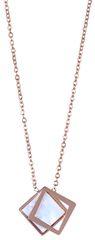 Troli Bronzový náhrdelník s perleťovým dvojitým přívěskem