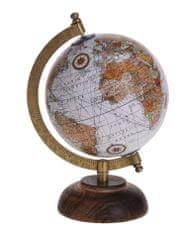 Koopman Otočný retro globus Ø 16 cm, bílý
