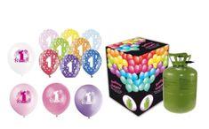 Helium sada na 1.NAROZENINY MALÁ OSLAVA HOLČIČKA + 13 latexových balónků