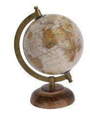 Koopman Otočný retro globus Ø 16 cm, béžový