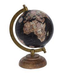 Koopman Otočný retro globus Ø 16 cm, černý