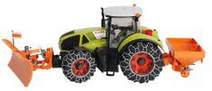 Bruder 01174 - traktor Claas Axion 950 s lancima za snijeg, drobilicom i plugom