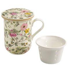 Maxwell & Williams Kilburn Bögre porcelán szűrővel 300 ml Summer Blossom
