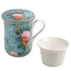 Maxwell & Williams Kilburn Bögre porcelán szűrővel 300 ml Victorian Garden
