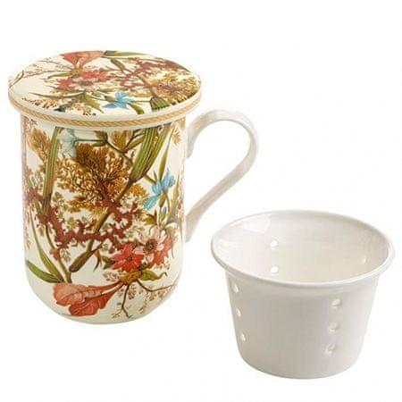 Maxwell & Williams Kilburn Bögre porcelán szűrővel 300 ml Cottage Blossom