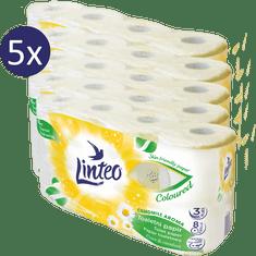 LINTEO rumiankowy papier toaletowy 5 x 8