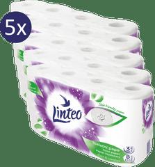 LINTEO Toalettpapír, 5x8 db