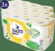 LINTEO rumiankowy papier toaletowy – 3 x 16 szt.