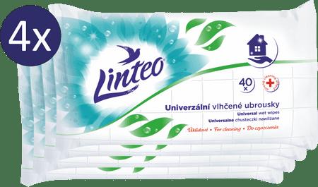LINTEO Univerzális nedves törlőkendő 4 x 40 db