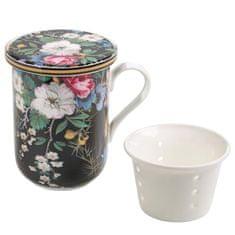 Maxwell & Williams Kilburn Bögre porcelán szűrővel 300 ml Midnight Blossom
