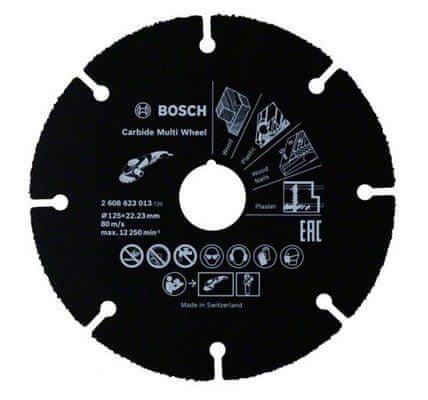Bosch rezalna plošča iz karbidne trdnine Multi Construction (2608623013)