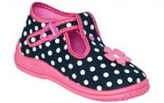 Zetpol Dívčí puntíkované bačkůrky Daria - modro-růžové