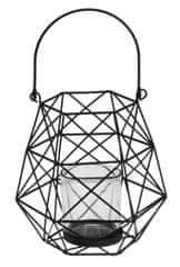 Koopman Závesný kovový svietnik so strednou sklenenou nádobkou