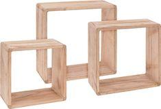 Koopman Sada 3 ks drevených dekoratívnych políc