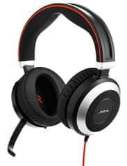 Jabra zestaw słuchawkowy Evolve 80, Stereo, USB-C/Jack, MS