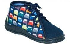 Zetpol Chlapčenské papučky s autíčkami Zbys - modré