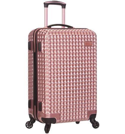 Sirocco Cestovný kufor T-1195/3-M PC - ružová