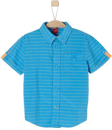 s.Oliver chlapecká košile 63.804.22.6379 140 modrá