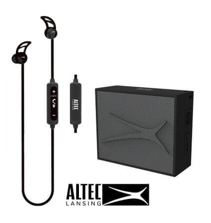 Altec Lansing Snake + Pocket, Bluetooth slušalice i zvučnik - komplet, crni