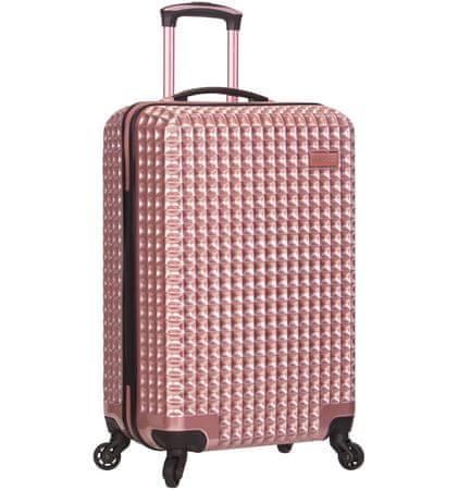 Sirocco Cestovný kufor T-1195/3-L PC ružová