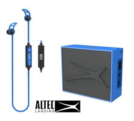 Altec Lansing Snake + Pocket, Bluetooth slušalice i zvučnik - komplet, plavi