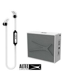 Altec Lansing Snake + Pocket, Bluetooth slušalice i zvučnik - komplet, bijeli