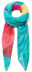 Desigual dámský tyrkysový šátek Foul Flamingo Ro