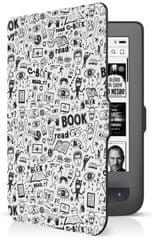Connect IT Etui Doodle dla czytnika PocketBook 624/626, biały