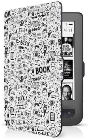 Connect IT Doodle pouzdro pro PocketBook 624/626, bílé