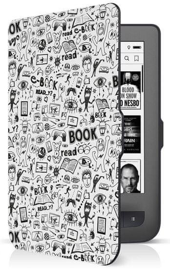 Connect IT Doodle pouzdro pro PocketBook 624/626, bílé - rozbaleno