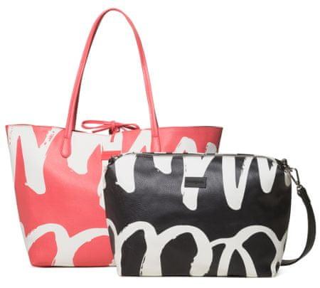 Desigual vícebarevná kabelka Bols Organic Geometry