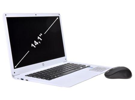 Manta prenosni računalnik MLA141, 14.1'', Full HD, 2GB, 32GB SSD, WiFi, Windows 10, bel