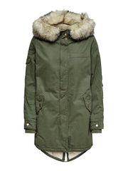 ONLY Női kabát May Fur Canvas Parka OTW Grape Leaf