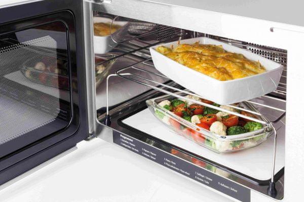 Volně stojící mikrovlnná trouba Caso MCG 25 Ceramic chef příprava pokrmů na dvou úrovních