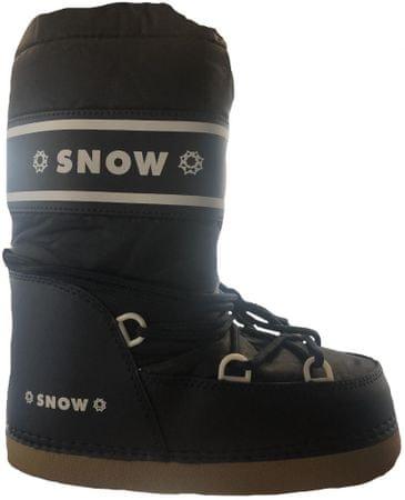 SNOW BOOT dětské zateplené sněhule 24-26 tmavo modrá