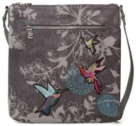 Desigual Bols Wallpaper Kaua sötétszürke crossbody táska