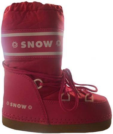 d43fd805eef7 SNOW BOOT dětské zateplené sněhule 24-26 růžová červená