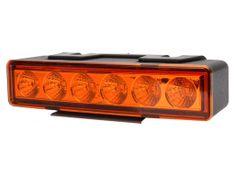 WAS Výstražné svetlo oranžové, W117 LED, 7 funkcií