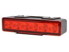 WAS Výstražné světlo červené,W117 LED,7-funkcí blíkaní