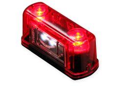 WAS Osvetlenie SPZ W53 (245) LED + Pozičné sv. červené