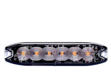 Výstražné světlo oranžové, 6x LED SLIM