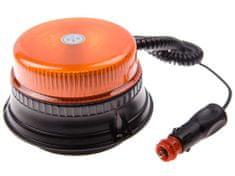 Maják oranžový LED 36W, 12LED, upevnení na magnet