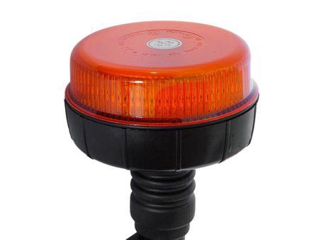 Maják oranžový 12 LED, 12/24V upevnění na trn